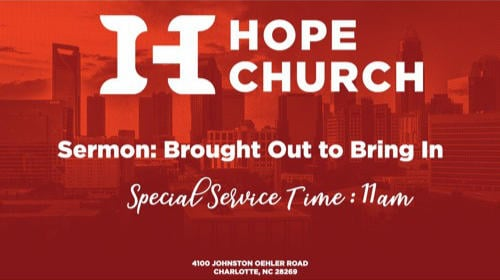 Poster for the Hope Church message Transitions in Life