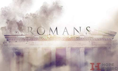 Poster for our Romans message series