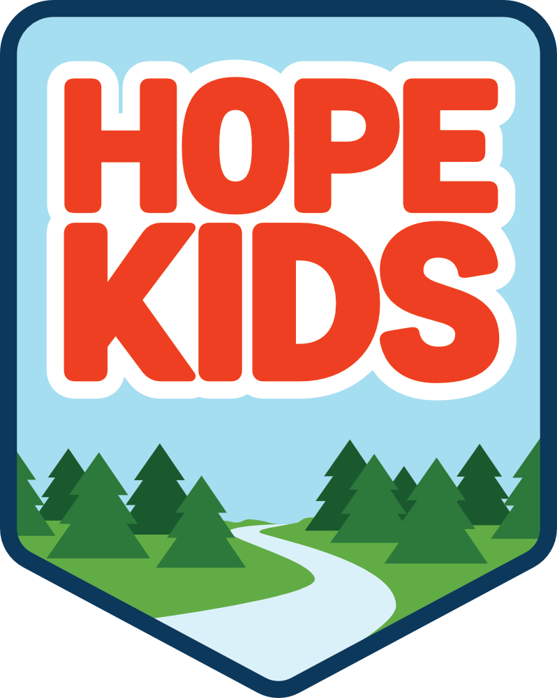 Illustrated badge for Hope Church's HopeKids program